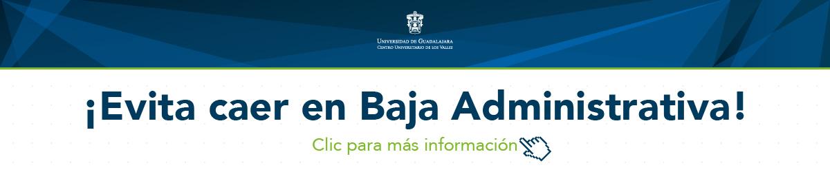 Evita baja administrativa calendario 2018B