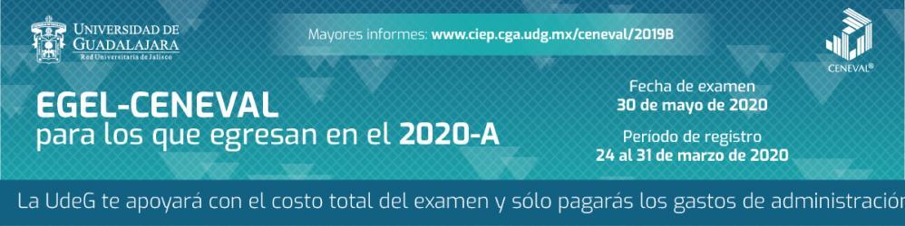 "EGEL del CENEVAL ""Fecha de examen 30 de mayo de 2020"""