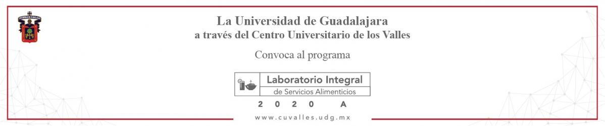 Convocatoria Laboratorio Integral de Servicios Alimenticios 2020A