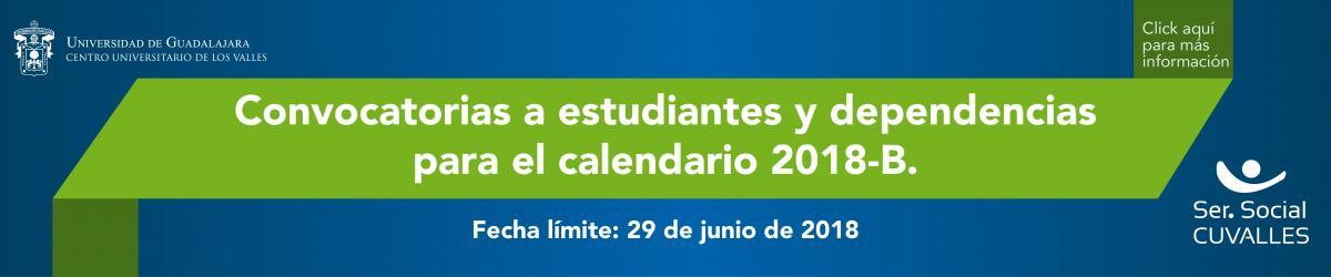 Convocatoria para realizar el Servicio Social en el calendario 2018B