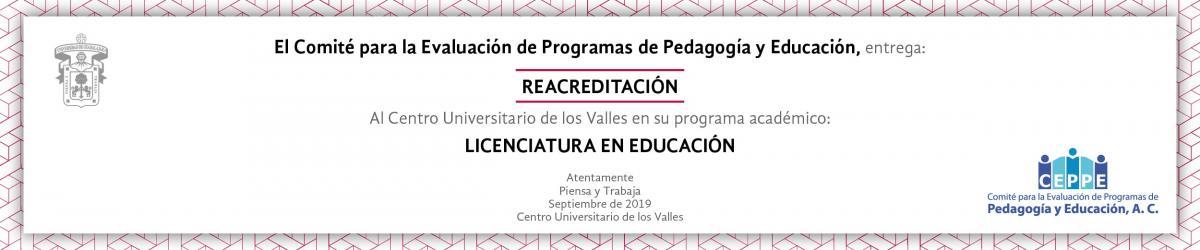 CEPPE Reacredita Licenciatura en Educación