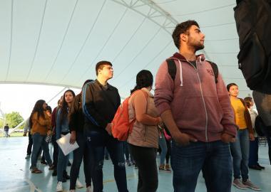 Estudiantes de nuevo ingreso del CUValles